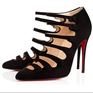 Christian Louboutin Suede Viennana Pointed Toe
